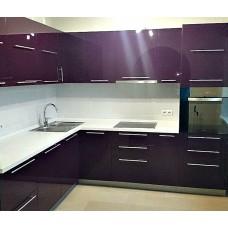 """Кухня с крашеными фасадами МДФ """"Аврора"""""""