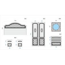 Комплект фасадов для спальни №4